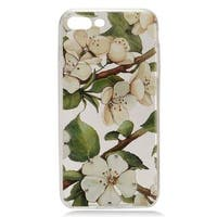 Insten White/ Green Flowers Hard Snap-on Case Cover with Diamond For Apple iPhone 7 Plus