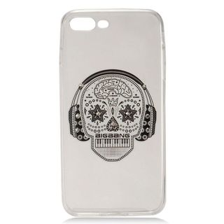 Insten White Skull Hard Snap-on Case Cover with Diamond For Apple iPhone 7 Plus
