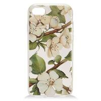 Insten White/ Green Flowers Hard Snap-on Case Cover with Diamond For Apple iPhone 7