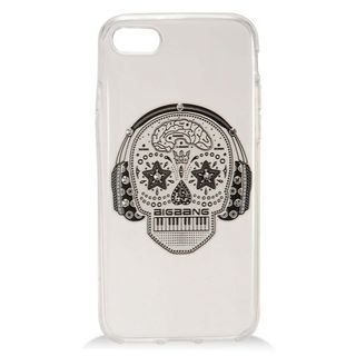 Insten White Skull Hard Snap-on Case Cover with Diamond For Apple iPhone 7