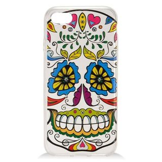 Insten White/ Colorful Joker Hard Snap-on Case Cover with Diamond For Apple iPhone 7