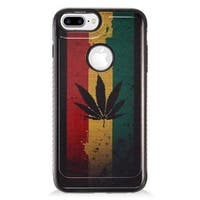 Insten Green/ Red Maple Leaf TPU Rubber Candy Skin Case Cover For Apple iPhone 7 Plus