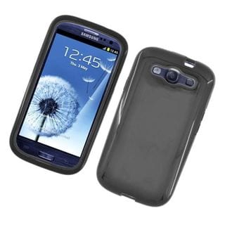 Insten TPU Rubber Candy Skin Dual Layer Hybrid Case Cover For Samsung Galaxy S3