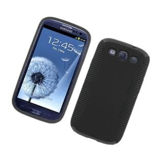 Insten Hard Snap-on Dual Layer Hybrid Case Cover For Samsung Galaxy S3