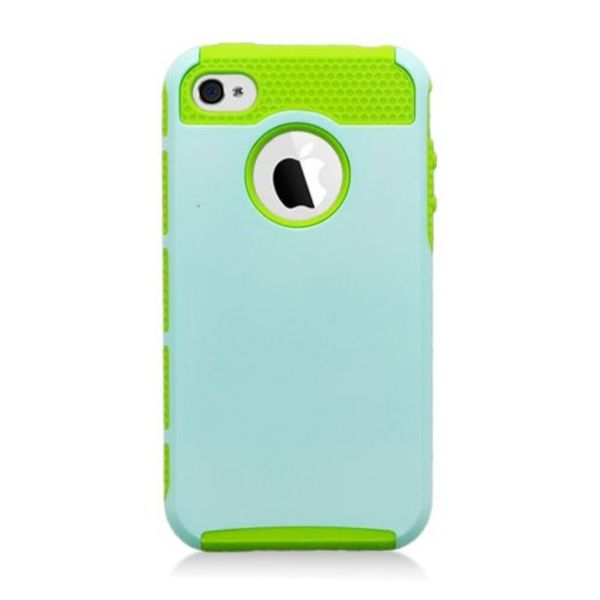 Insten Hard Snap-on Dual Layer Hybrid Case Cover For Apple iPhone 4/ 4S