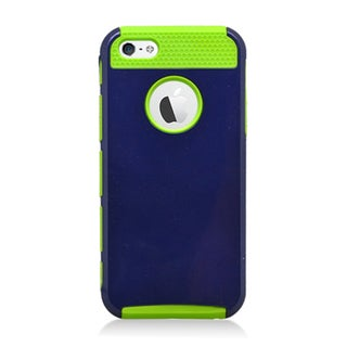Insten Hybrid Hard Snap-on Dual Layer Case Cover For Apple iPhone 5/ 5S (Option: Purple)