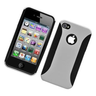 Insten Hybrid Hard Snap-on Dual Layer Case Cover For Apple iPhone 4/ 4S