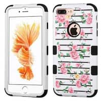 Insten Fresh Roses Tuff Hard PC/ Silicone Dual Layer Hybrid Rubberized Matte Case Cover For Apple iPhone 7 Plus