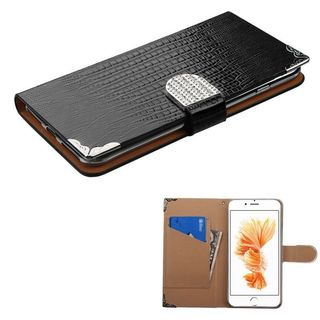 Insten Leather Crocodile Skin Case Cover with Wallet Flap Pouch/ Diamond For Apple iPhone 7 Plus
