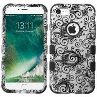 Insten Four-leaf Clover Tuff Hard PC/ Silicone Dual Layer Hybrid Rubberized Matte Case Cover For Apple iPhone 7