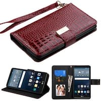 Insten Leather Crocodile Skin Case Cover Lanyard with Stand/ Wallet Flap Pouch/ Diamond/ Photo Display For LG G Stylo