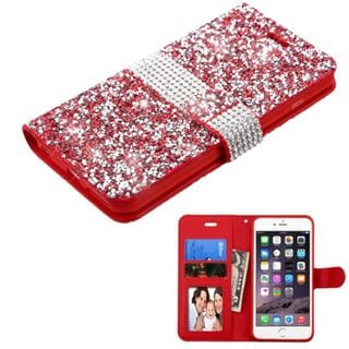 Insten Leather Diamond Bling Case Cover with Wallet Flap Pouch/ Photo Display For Apple iPhone 6 Plus/ 6s Plus