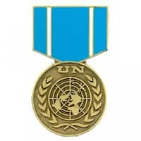 United Nations Observer Blue/Gold Stainless Steel Military Lapel Pin Medal