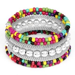 Liliana Bella Handmade Oxidized Multicolour Beaded Wrap Bracelet