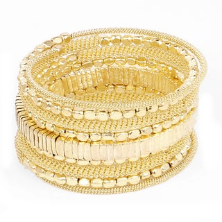 Liliana Bella Women's Yellow Goldplated Handmade Beaded Wrap Bracelet