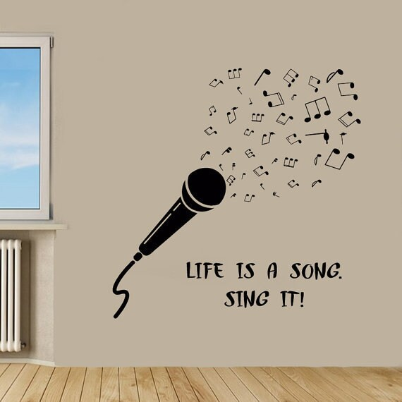 Shop Quotes Life Is A Song Sing It Vinyl Sticker Home Decor Vinyl Gorgeous Audio Quotes About Life