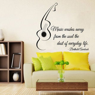 Quote Music Words Vinyl Sticker Home Interior Art Mural Nursery Room Sticker Decal size 48x48 Color