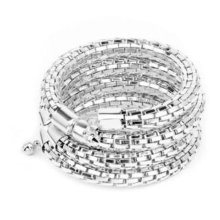 Liliana Bella Silvertone Metal Handmade Wrap Bracelet - White