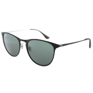 Ray-Ban RJ 9538 251/71 Rubber Black Metal Square Sunglasses Green Lens