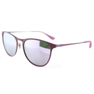 Ray-Ban RJ 9538 254/4V Rubber Pink Metal Square Sunglasses Lilac Flash Mirror Lens