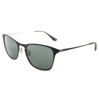 Ray-Ban RJ 9539 251/71 Rubber Black Metal Square Sunglasses Green Lens