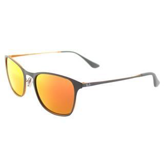 Ray-Ban RJ 9539 258 6Q Rubber Grey Metal Square Sunglasses Orange Flash  Mirror 1609379eaef