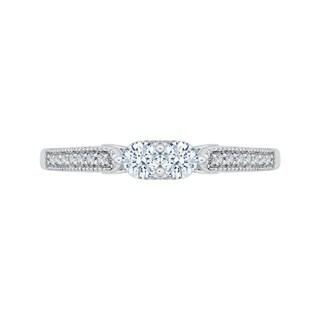 14k White Gold 3/8ct TDW Two-Stone Diamond Fashion Ring