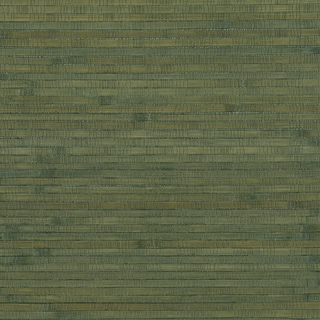 Teal Bamboo Grasscloth Wallpaper