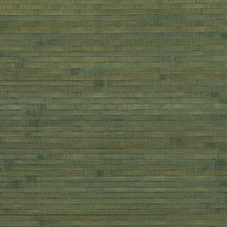 Teal Bamboo Grasscloth Wallpaper