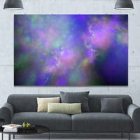 Designart 'Perfect Purple Starry Sky' Extra Large Abstract Canvas Wall Art