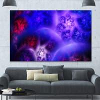 Designart 'Bright Blue Magic Stormy Sky' Extra Large Abstract Canvas Art Print