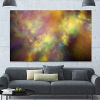 Designart 'Perfect Yellow Starry Sky' Extra Large Abstract Canvas Art Print