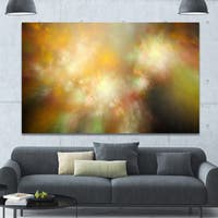 Designart 'Perfect Yellow Green Starry Sky' Extra Large Abstract Canvas Art Print
