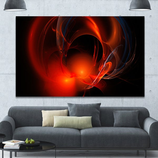 Shop Designart 'Red Galactic Nebula on Black' Extra Large ...
