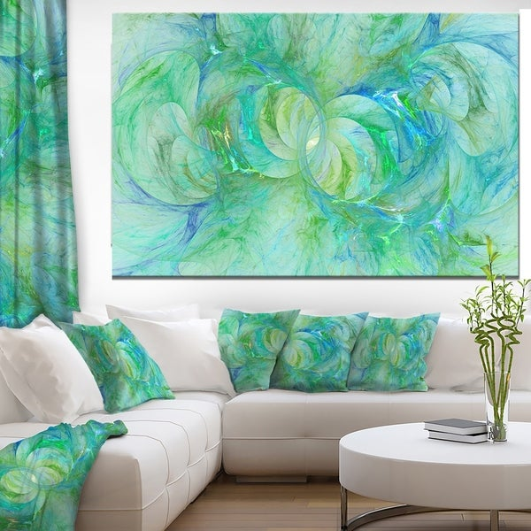 Designart 'Snow Fractal Glass Texture' Abstract Artwork on Canvas