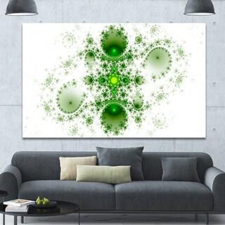 Designart 'Cabalistic Nature Green Fractal Art' Abstract Wall Art Canvas
