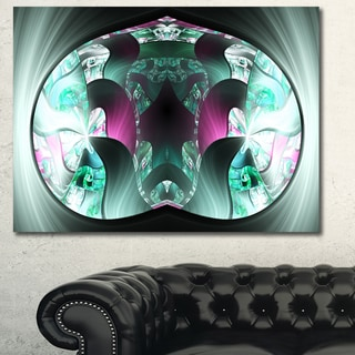 Designart 'Grey Capsule in Plasma' Abstract Artwork on Canvas