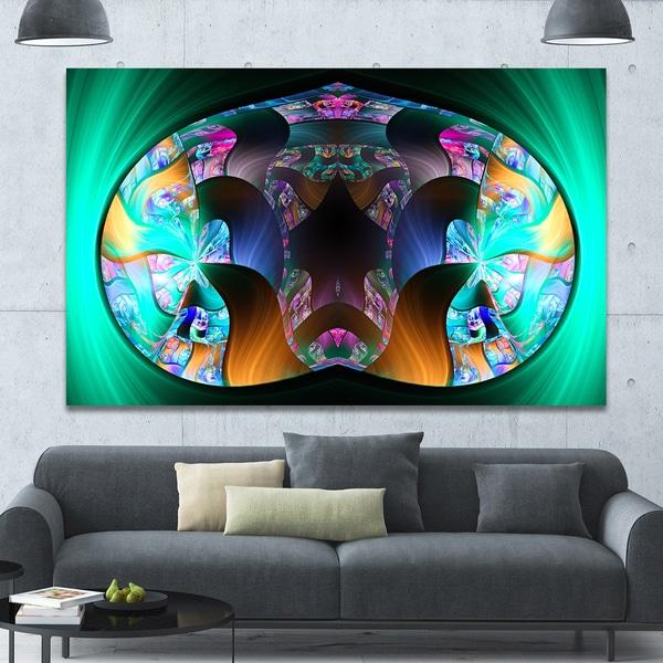 Designart 'Blue Capsule in Plasma' Abstract Artwork on Canvas