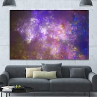 Designart 'Blur Fractal Sky with Stars'Extra Large Abstract Canvas Art Print