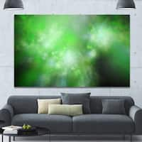 Designart 'Green Blur Sky with Stars'Extra Large Abstract Canvas Art Print