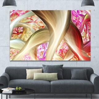 Designart 'Golden Red Fractal Plant Stems' Extra Large Canvas Art Print