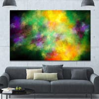 Designart 'Colorful Sky with Blur Stars'Extra Large Abstract Canvas Art Print
