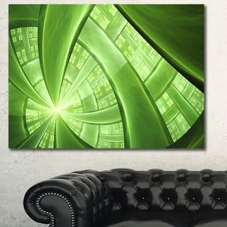 Designart 'Green Fractal Exotic Plant Stems' Extra Large Canvas Art Print - Green