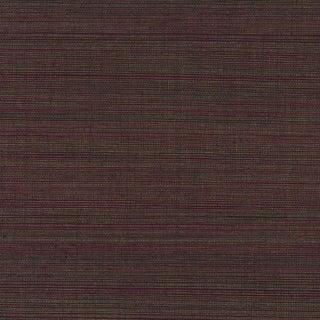 Burgundy Sisal Grasscloth Wallpaper