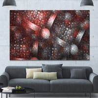 Designart 'Crystal Cell Red Steel Texture' Extra Large Abstract Canvas Art Print