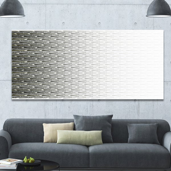 Designart 'White Symmetrical Fractal Flower' Abstract Wall Art on Canvas