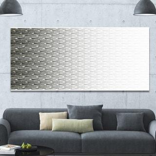 Designart 'White Symmetrical Fractal Flower' Abstract Wall Art on Canvas - Silver