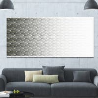 Designart 'White Symmetrical Fractal Flower' Abstract Wall Art on Canvas