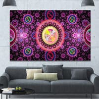 Designart 'Bright Pink Psychedelic Relaxing Art' Extra Large Canvas Art Print