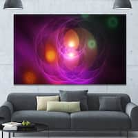 Designart 'Merge Colored Spheres.' Abstract Art Canvas Print